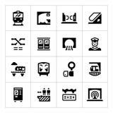 Metta le icone del sottopassaggio illustrazione di stock