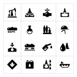 Metta le icone di industria petrolifera Fotografie Stock