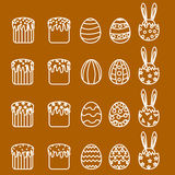 Metta le icone di Pasqua Immagine Stock