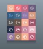 Metta le icone per i contaminanti dell'acqua del informazione-grafico Immagine Stock