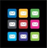 Metta le icone variopinte del messaggio Fotografie Stock Libere da Diritti