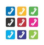 Metta le icone variopinte del telefono Fotografia Stock