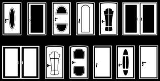 Metta le porte isolate Fotografia Stock