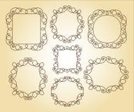 Metta le retro strutture di vettore Illustrazione di vettore brown illustrazione vettoriale