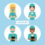Metta medici dello specialista con il cappello e la maschera royalty illustrazione gratis