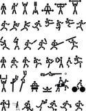 Metta in mostra i simboli Fotografia Stock Libera da Diritti