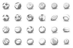 Metta in mostra le sfere Fotografie Stock Libere da Diritti