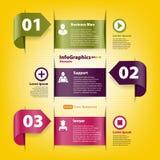 Metta per il modello di infographics per l'affare Fotografie Stock