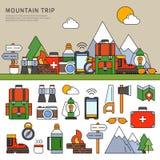 Metta per il viaggio della montagna Immagine Stock Libera da Diritti
