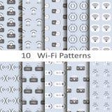 Metta se dieci modelli di Wi-Fi Fotografie Stock