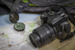 Metta sul viaggio intorno al mondo Fotografia Stock Libera da Diritti