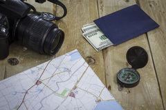 Metta sul viaggio intorno al mondo Fotografie Stock Libere da Diritti