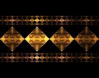 Mettalic Diamonds. Fractal rendering of metallic diamond pattern Stock Illustration