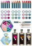 Mette i cosmetici delle donne Immagini Stock Libere da Diritti