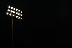 Mette in mostra gli indicatori luminosi di inondazione dello stadio Fotografia Stock