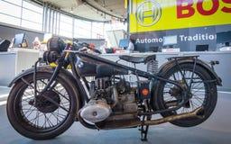 Mette in mostra il motociclo BMW R63, 1929 Immagine Stock