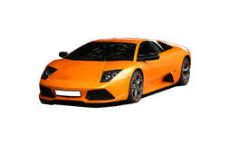 Mette in mostra l'automobile arancione Fotografia Stock