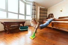 Mette in mostra la casalinga durante l'allenamento Fotografie Stock