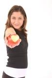 Mette in mostra la mela della donna Fotografia Stock Libera da Diritti