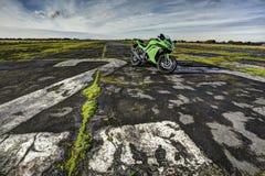 Mette in mostra la motocicletta Fotografia Stock