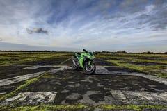 Mette in mostra la motocicletta Immagini Stock