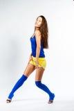 Mette in mostra la ragazza di forma fisica Immagine Stock