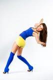 Mette in mostra la ragazza di forma fisica Fotografie Stock