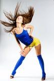 Mette in mostra la ragazza di forma fisica Immagini Stock
