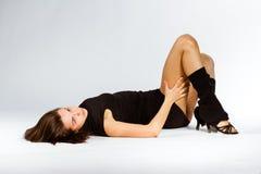 Mette in mostra la ragazza di forma fisica Fotografia Stock