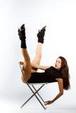 Mette in mostra la ragazza di forma fisica Fotografia Stock Libera da Diritti