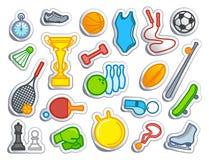 Mette in mostra le icone Immagini Stock