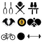 Mette in mostra le icone Fotografie Stock Libere da Diritti