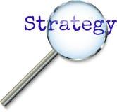 Mettendo a fuoco sulla strategia Fotografie Stock