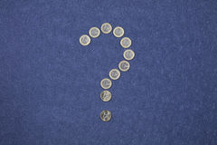 Mettere in discussione l'euro Immagine Stock