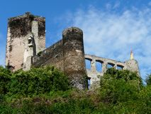 Metternich Castle Ruin at Beilstein, Rhineland-Palatinate, Germany stock photography