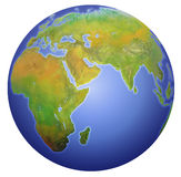 Mettez à la terre afficher l'Europe, l'Asie, et l'Afrique. illustration stock