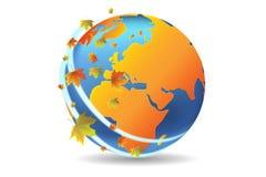 Mettez à la terre l'automne de saison illustration libre de droits