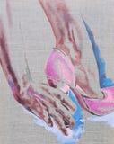 Mettez dessus un les chaussures du ` s illustration stock