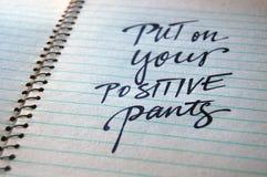 Mettez dessus votre fond calligraphique de pantalon positif photos libres de droits