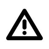 Mettez en danger le signe d'avertissement d'une attention avec le symbole de marque d'exclamation Photo libre de droits