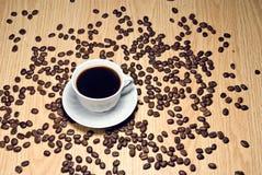 Mettez en forme de tasse le café Photo libre de droits