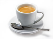 mettez en forme de tasse le café express image stock
