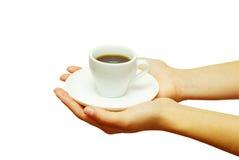 Mettez en forme de tasse le café Image libre de droits