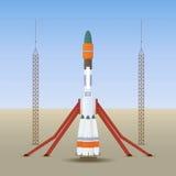 Mettez en marche la fusée d'espace Image stock