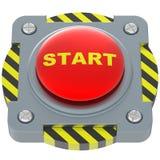 Mettez en marche le bouton rouge Illustration de Vecteur
