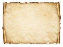 Mettez en rouleau la vieille feuille de papier, vieux papier âgé par vintage. Images libres de droits