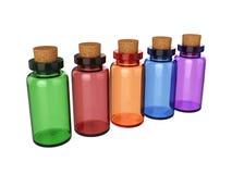 Mettez le breuvage magique en bouteille d'isolement sur le fond blanc, le rendu 3D Photo stock