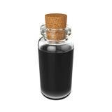 Mettez le breuvage magique en bouteille d'isolement sur le fond blanc, le rendu 3D Photographie stock