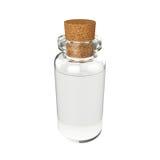 Mettez le breuvage magique en bouteille d'isolement sur le fond blanc, le rendu 3D Photographie stock libre de droits