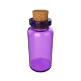 Mettez le breuvage magique en bouteille d'isolement sur le fond blanc, le rendu 3D Image libre de droits